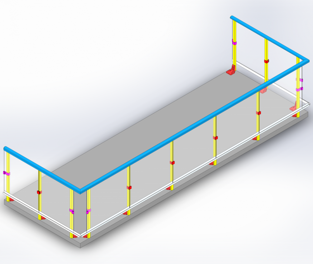 Condo Balcony railing system